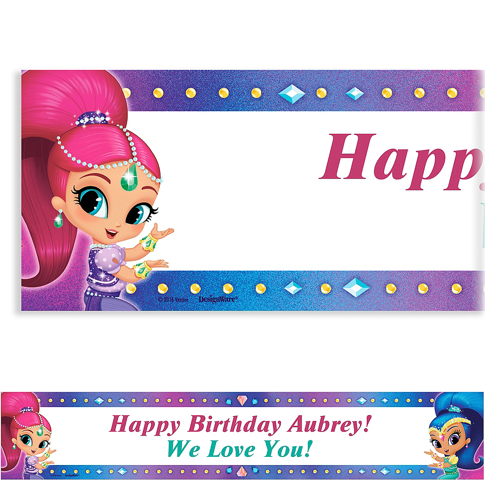 Custom Shimmer and Shine Banner | Party Supplies | Party City