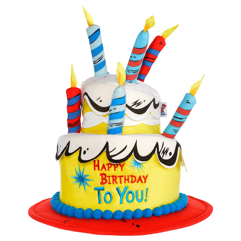 Deluxe Dr. Seuss Birthday Cake Hat 12in X 13 1/2in