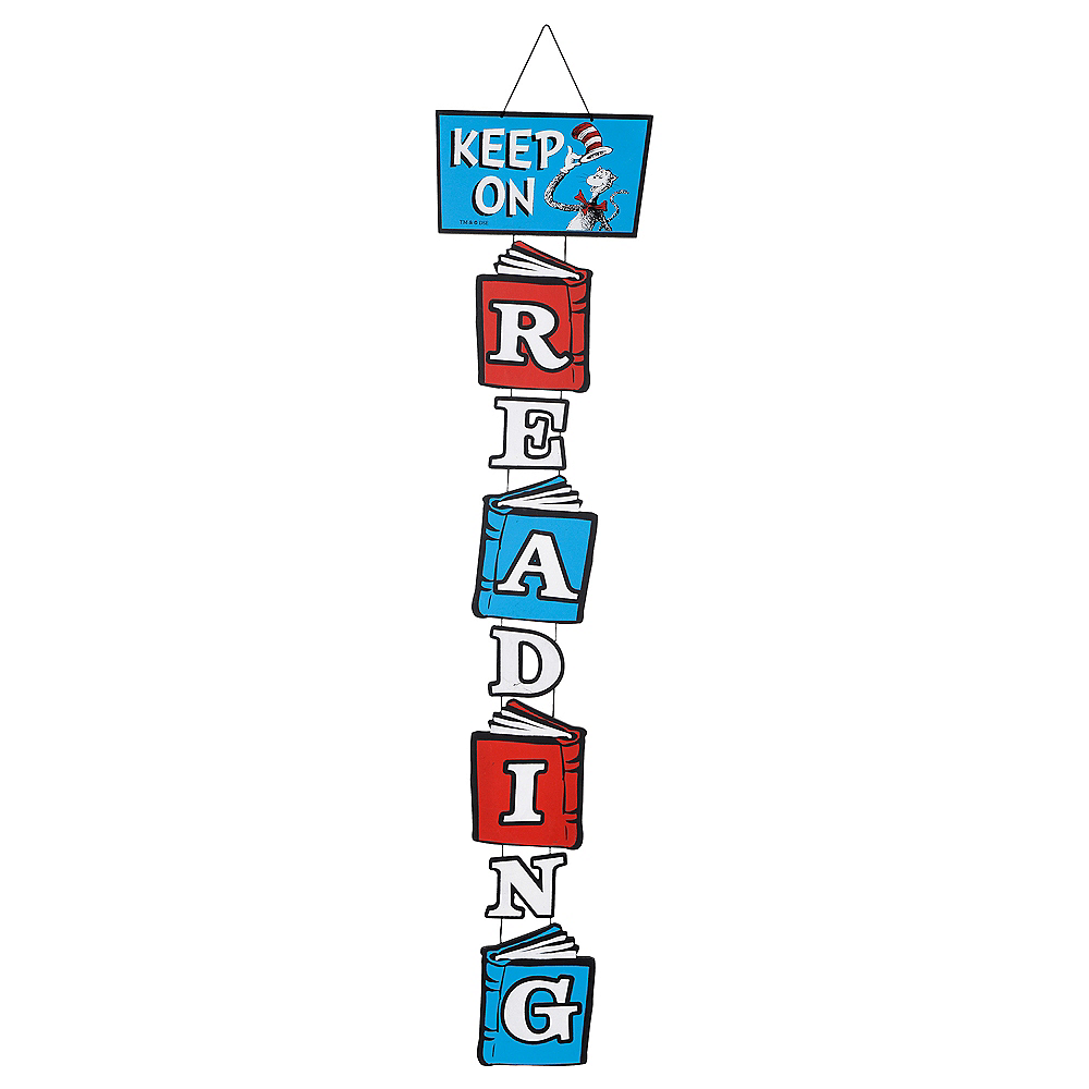 Cat in the Hat Stacked Reading Sign - Dr. Seuss Image #1