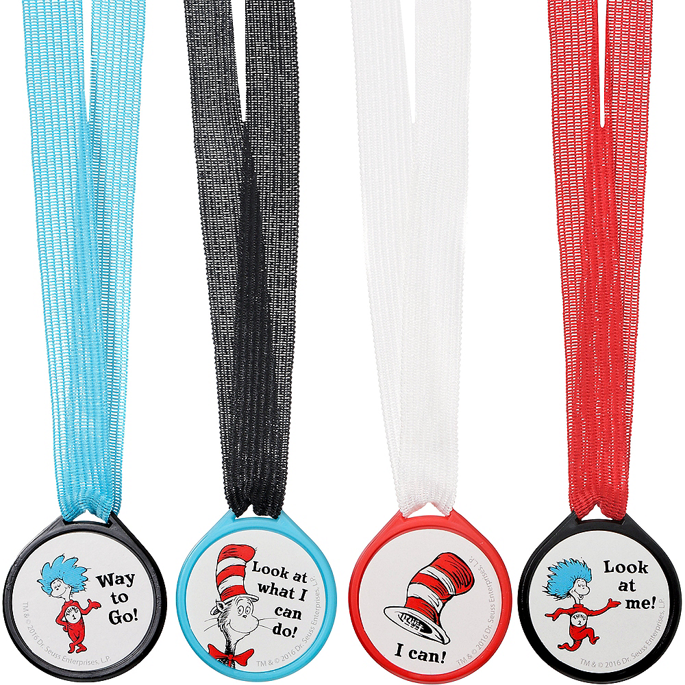Cat in the Hat Award Medals 12ct - Dr. Seuss Image #2