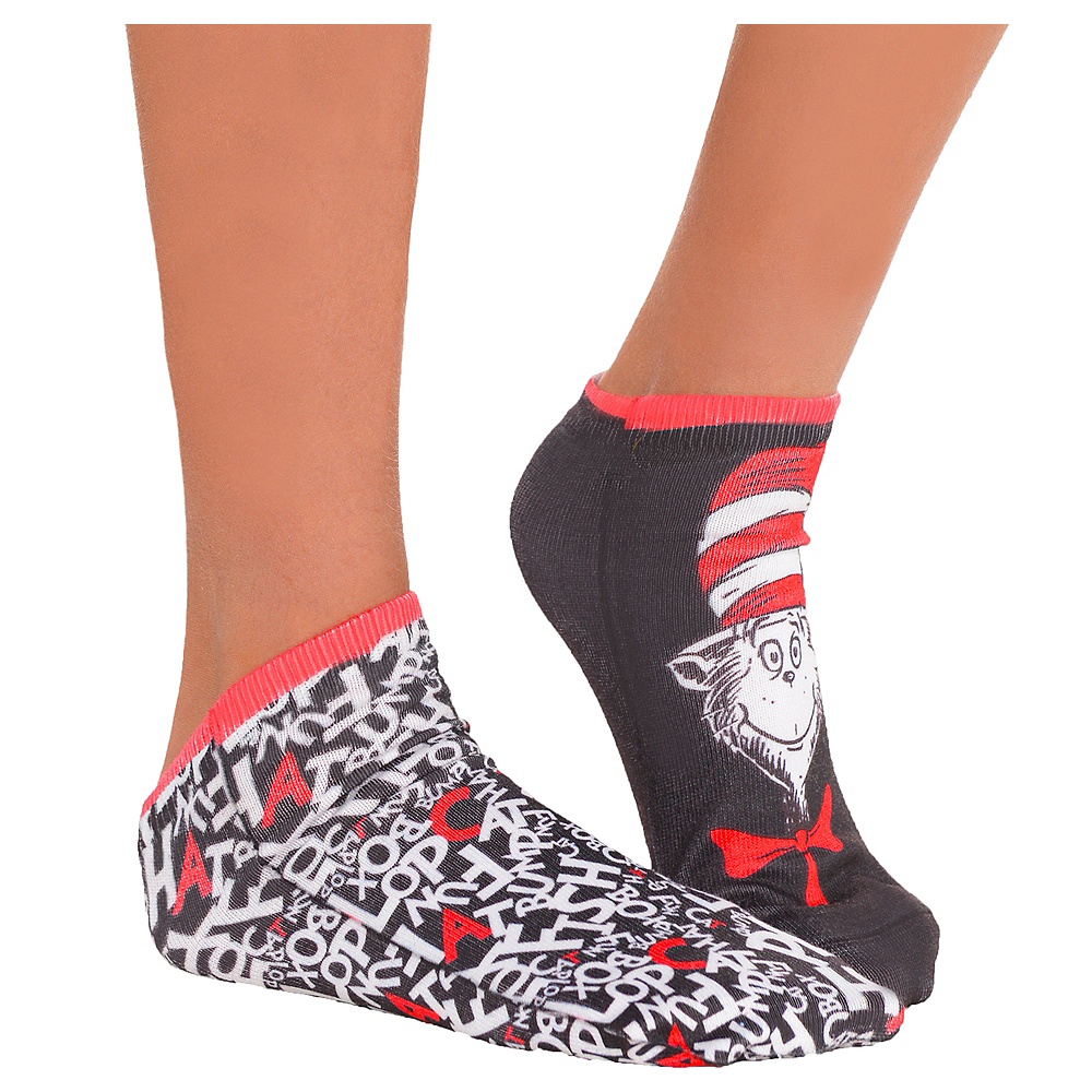 Child Cat in the Hat Socks - Dr. Seuss Image #1