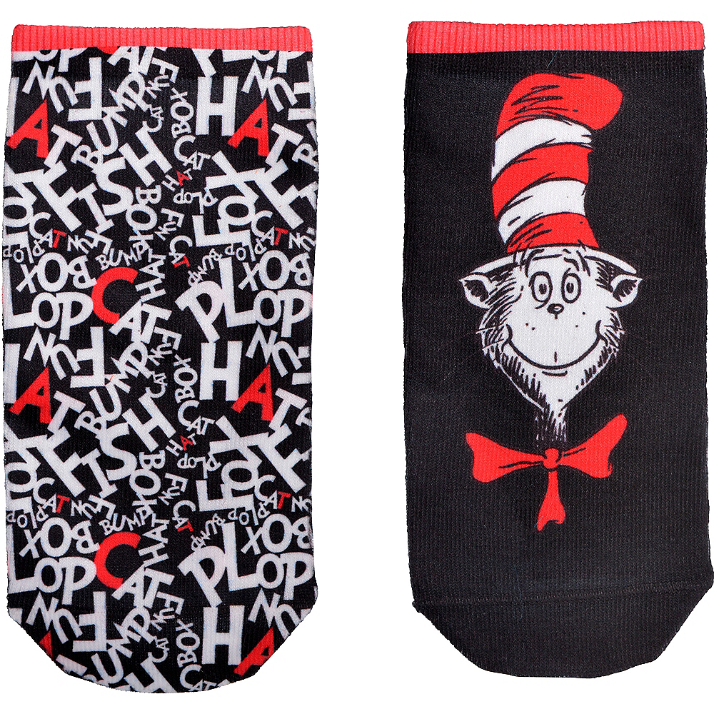 Child Cat in the Hat Socks - Dr. Seuss Image #2