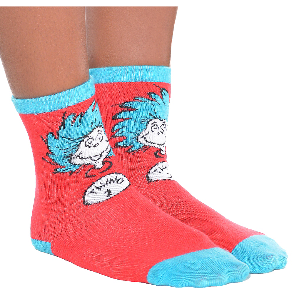 Child Thing 1 & Thing 2 Socks - Dr. Seuss Image #1