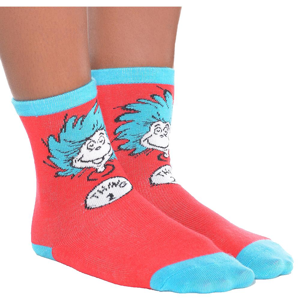 Child Thing 1 & Thing 2 Socks - Dr. Seuss Image #1