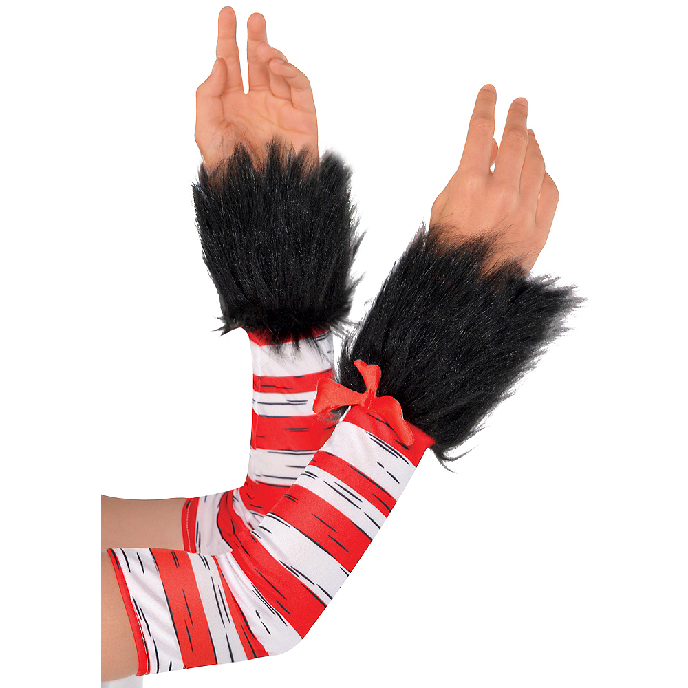 Womens Cat in the Hat Arm Warmers - Dr. Seuss Image #1