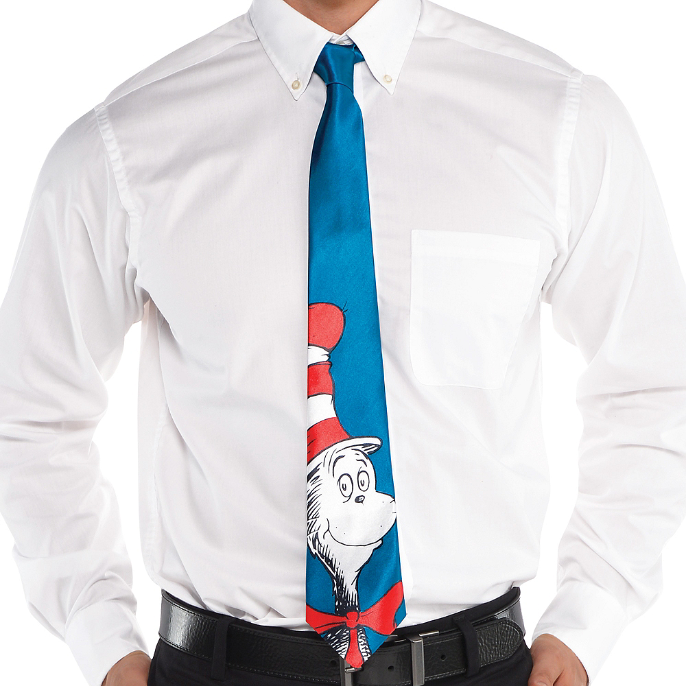 Adult Cat in the Hat Tie - Dr. Seuss Image #2