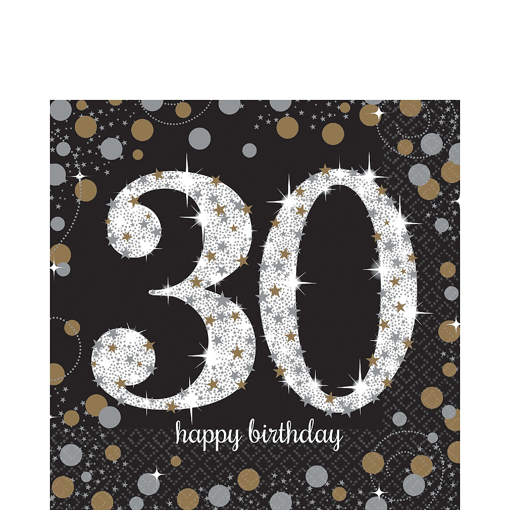 Sparkling Celebration 30th Birthday Party Kit for 32 Guests Image #5