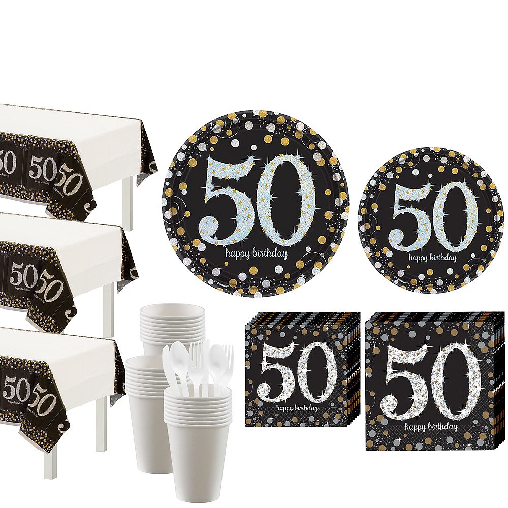 Sparkling Celebration 50th Birthday Party Kit for 32 Guests Image #1