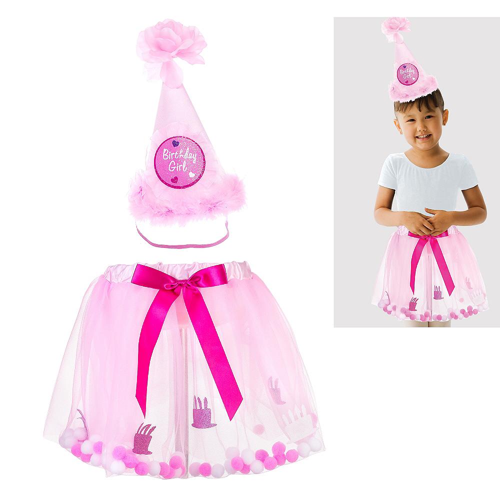 Child Pink Birthday Accessory Kit 2pc Image #1
