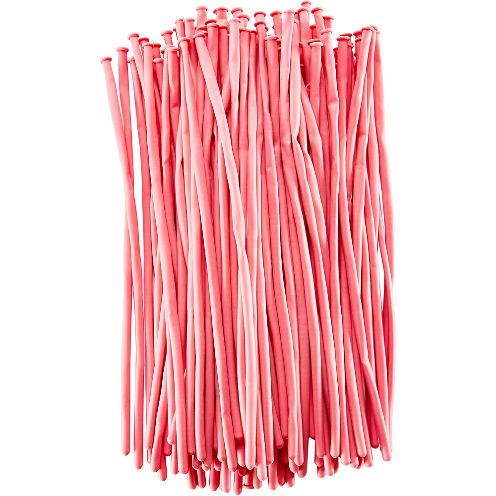 Long Light Pink Twisting Balloons 100ct | Party City