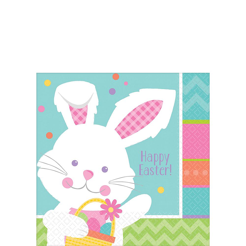 Hippity Hop Easter Bunny Beverage Napkins 16ct Image #1
