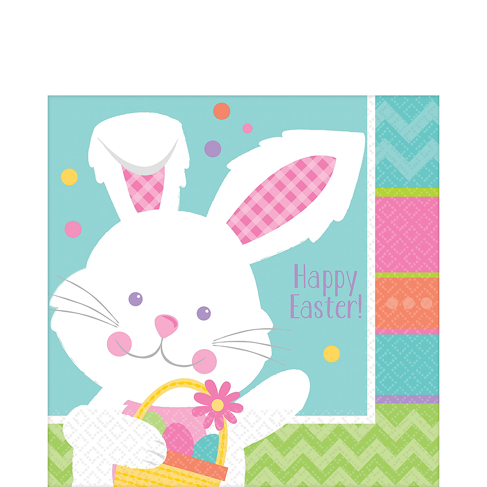 Hippity Hop Easter Bunny Lunch Napkins 16ct Image #1