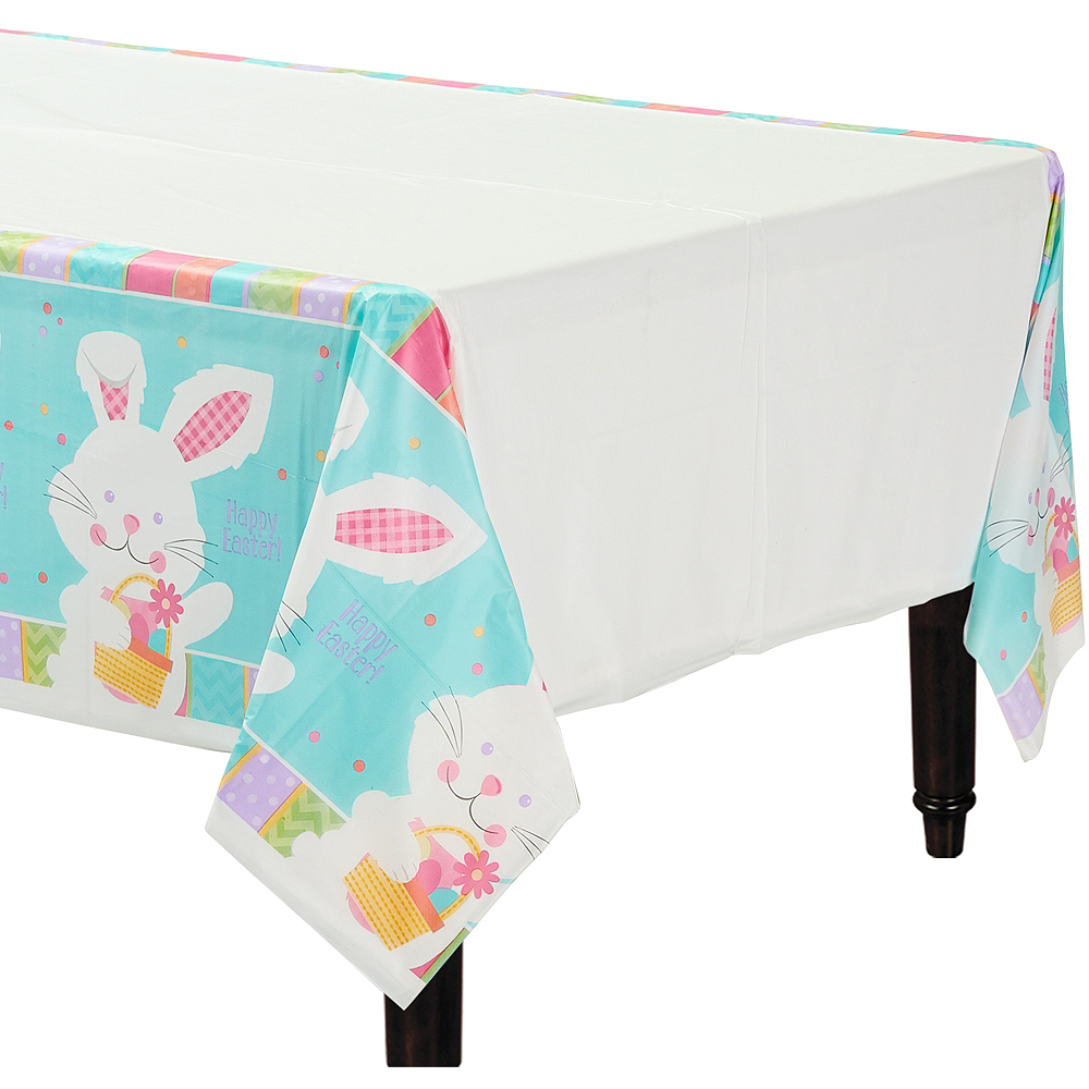 Hippity Hop Easter Bunny Table Cover Image #1