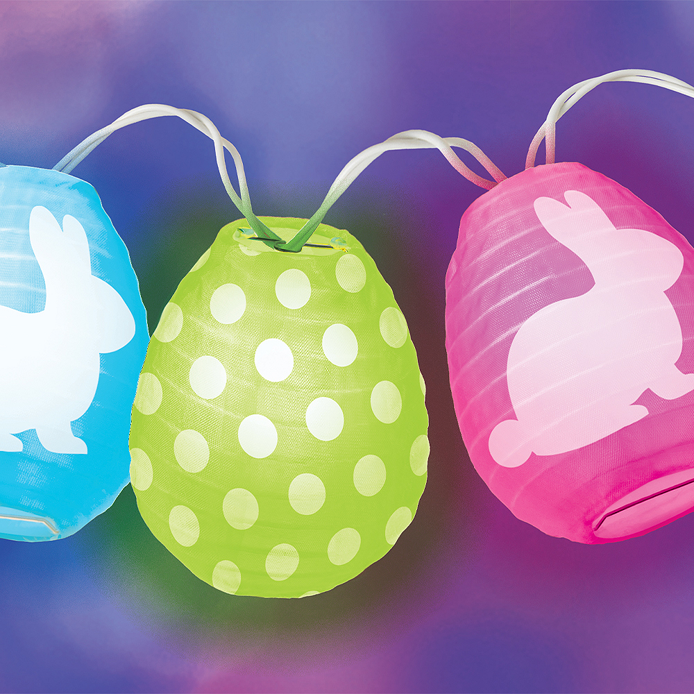 Easter Egg Lantern String Lights Image #3