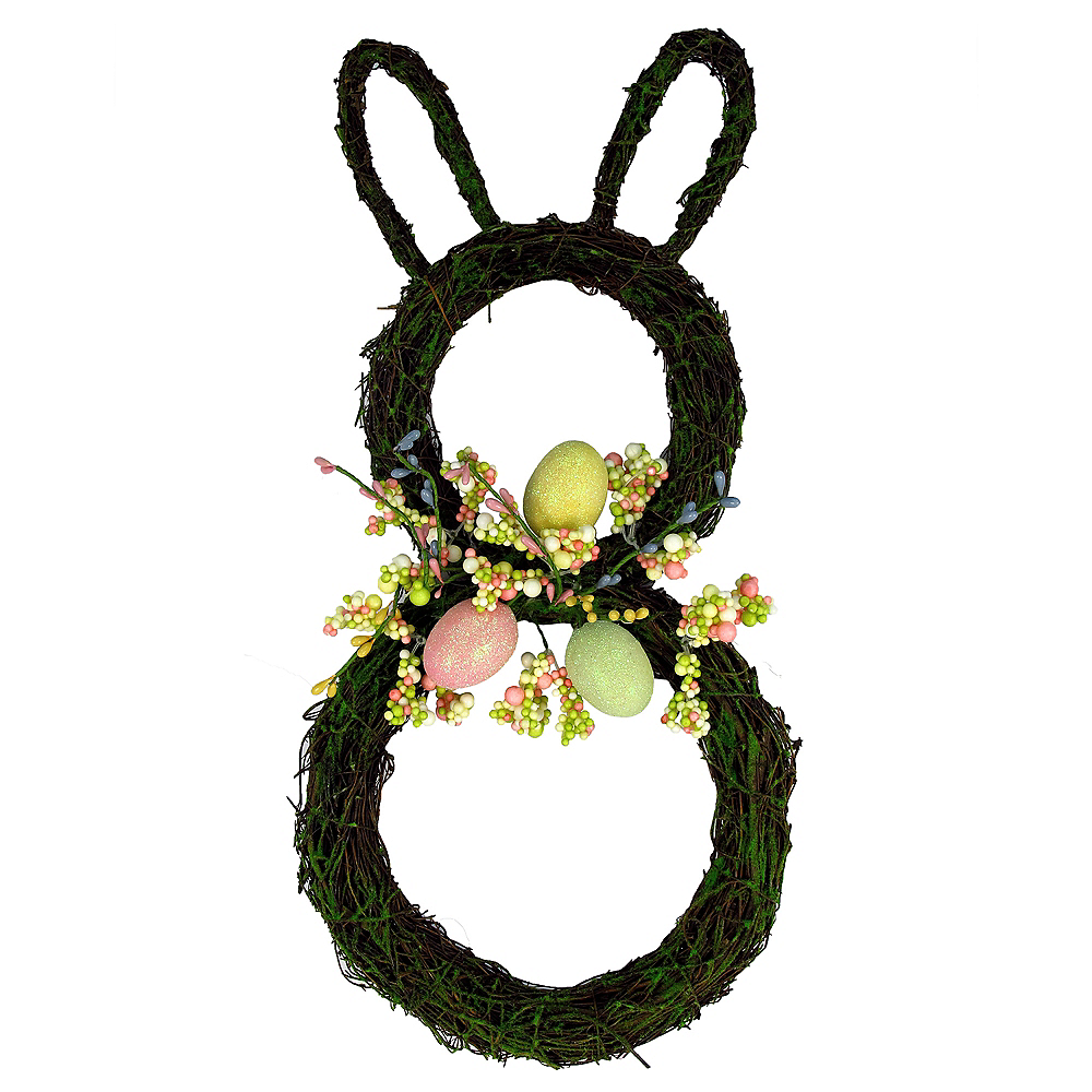 Twig Easter Bunny Wreath Image #1