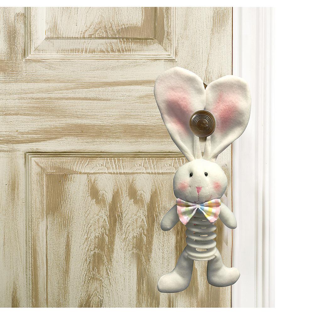 Springy Plush Easter Bunny Door Hanger Image #1