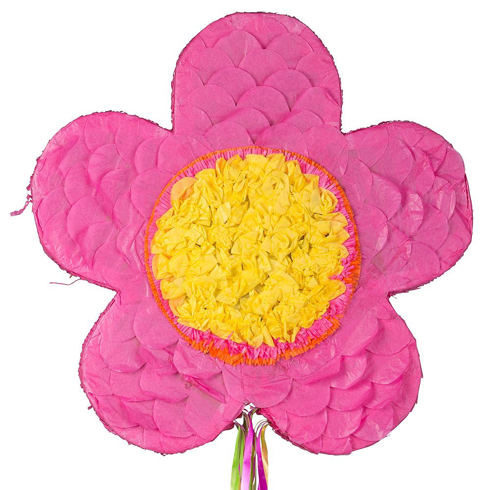 Pull String Pink Flower Pinata Image #1