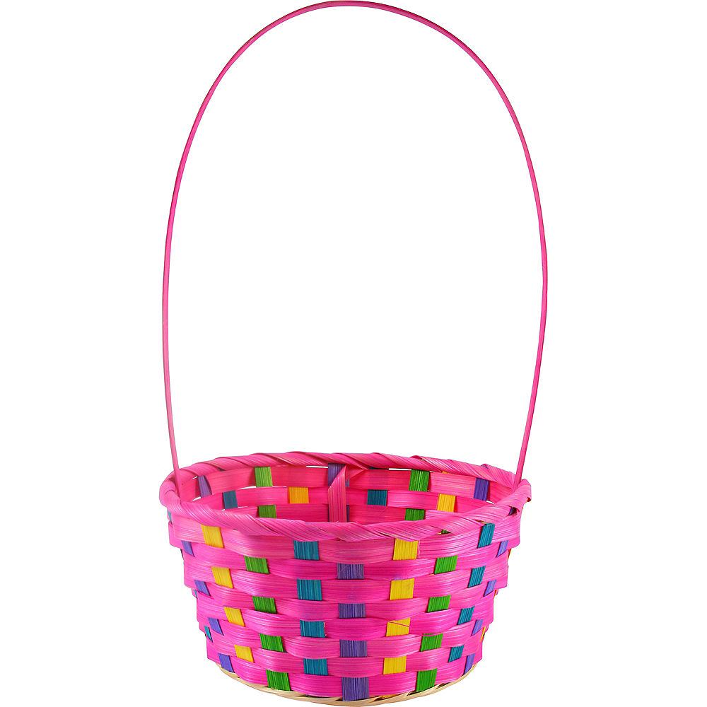 Small Pink Easter Basket Image #1