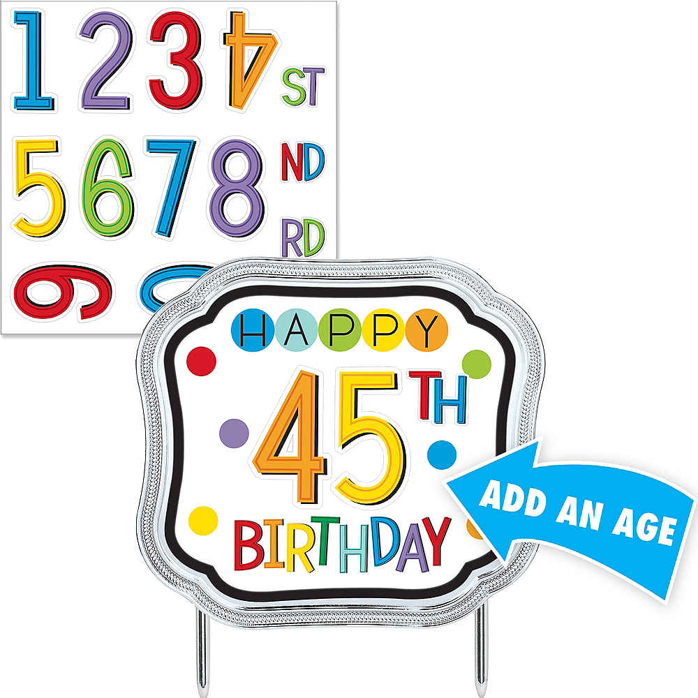 Rainbow Happy Birthday Cake Topper Kit Image 1