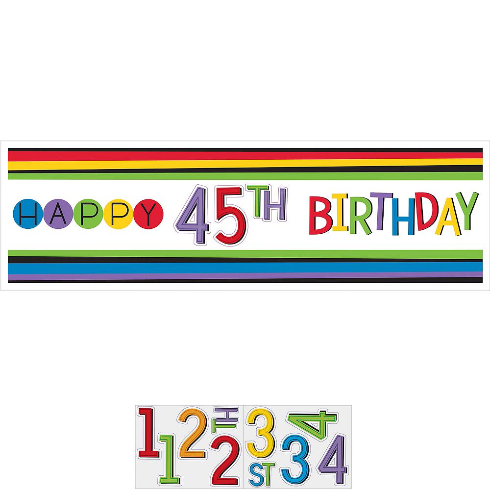 Rainbow Happy Birthday Banner Kit Image #1