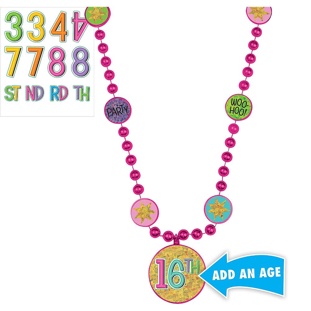 Rainbow Happy Birthday Pendant Bead Necklace Kit Image #1