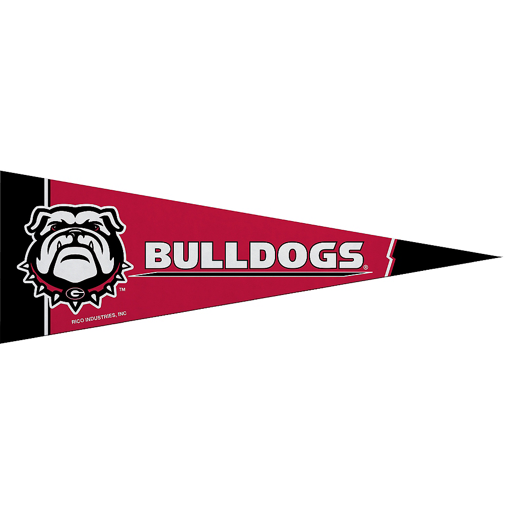 Small Georgia Bulldogs Pennant Flag Image #1
