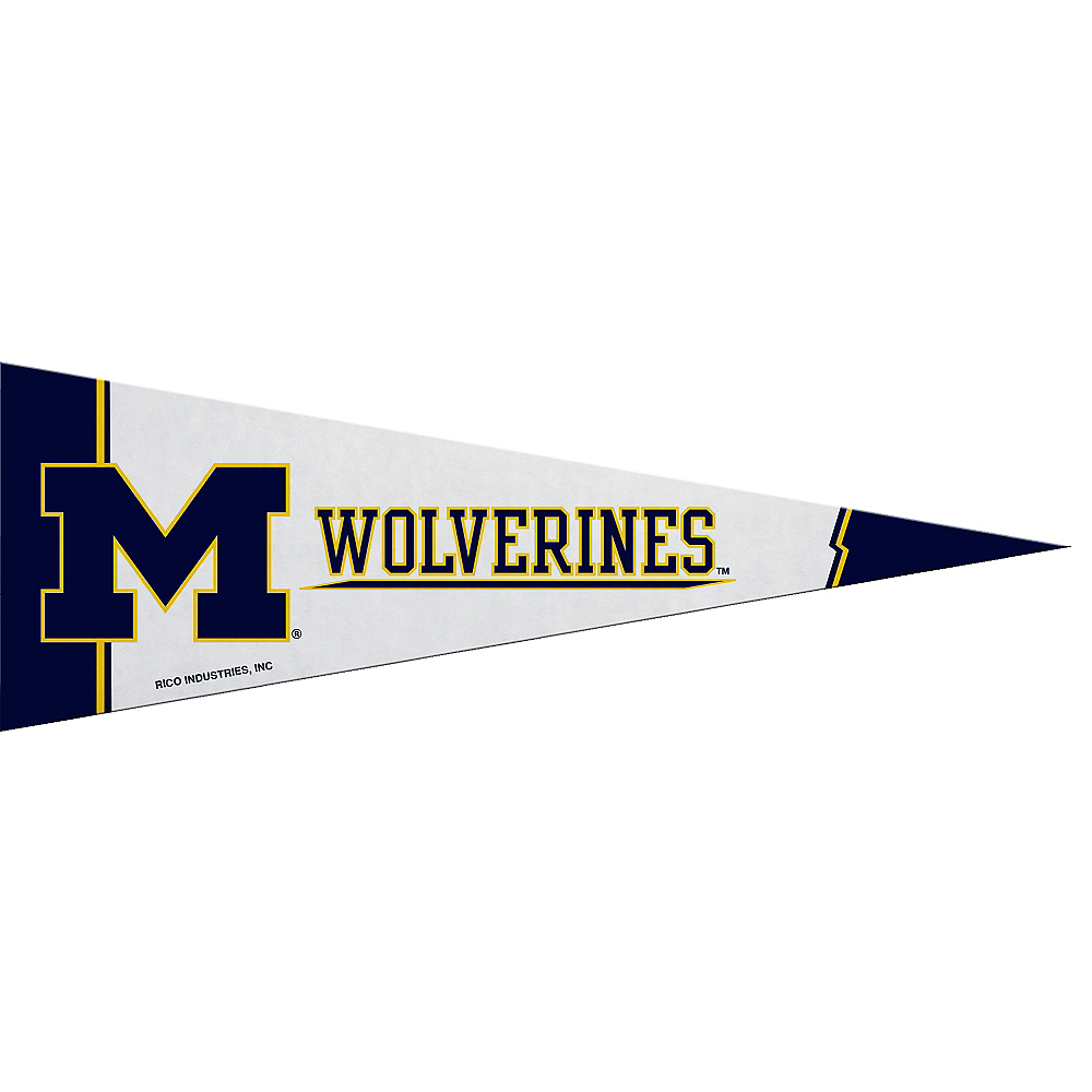 Small Michigan Wolverines Pennant Flag Image #1