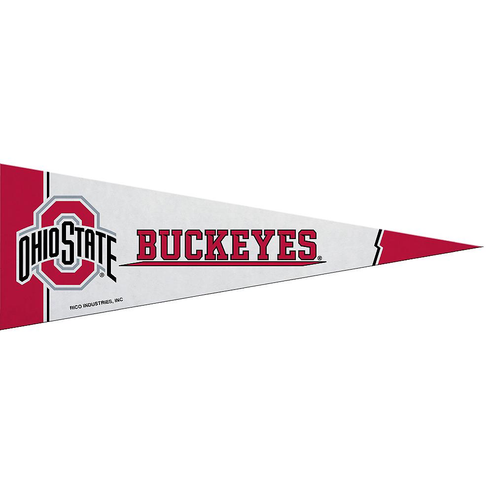 Small Ohio State Buckeyes Pennant Flag Image #1