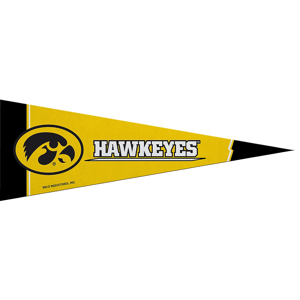 Small Iowa Hawkeyes Pennant Flag Image #1
