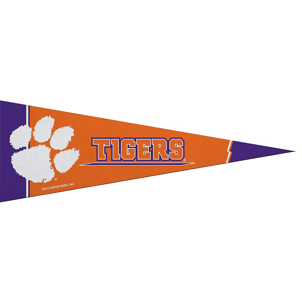 Small Clemson Tigers Pennant Flag Image #1