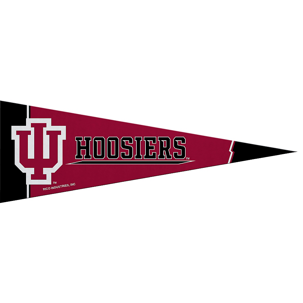 Nav Item for Small Indiana Hoosiers Pennant Flag Image #1