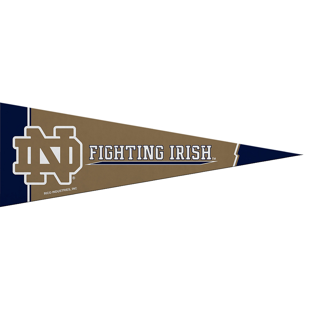 Small Notre Dame Fighting Irish Pennant Flag Image #1