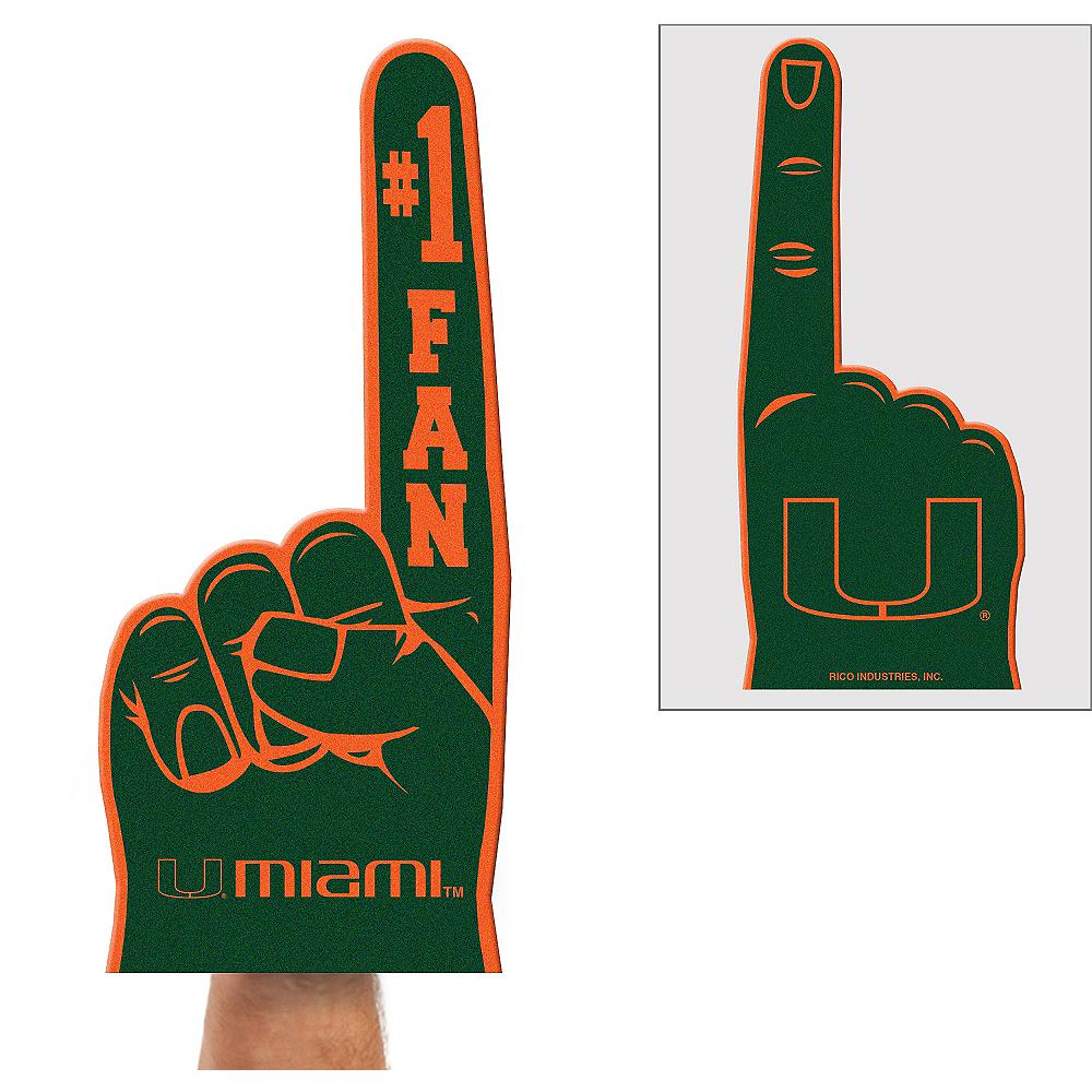 Rico Industries NCAA Miami Hurricanes #1 Fan Flat Foam Finger