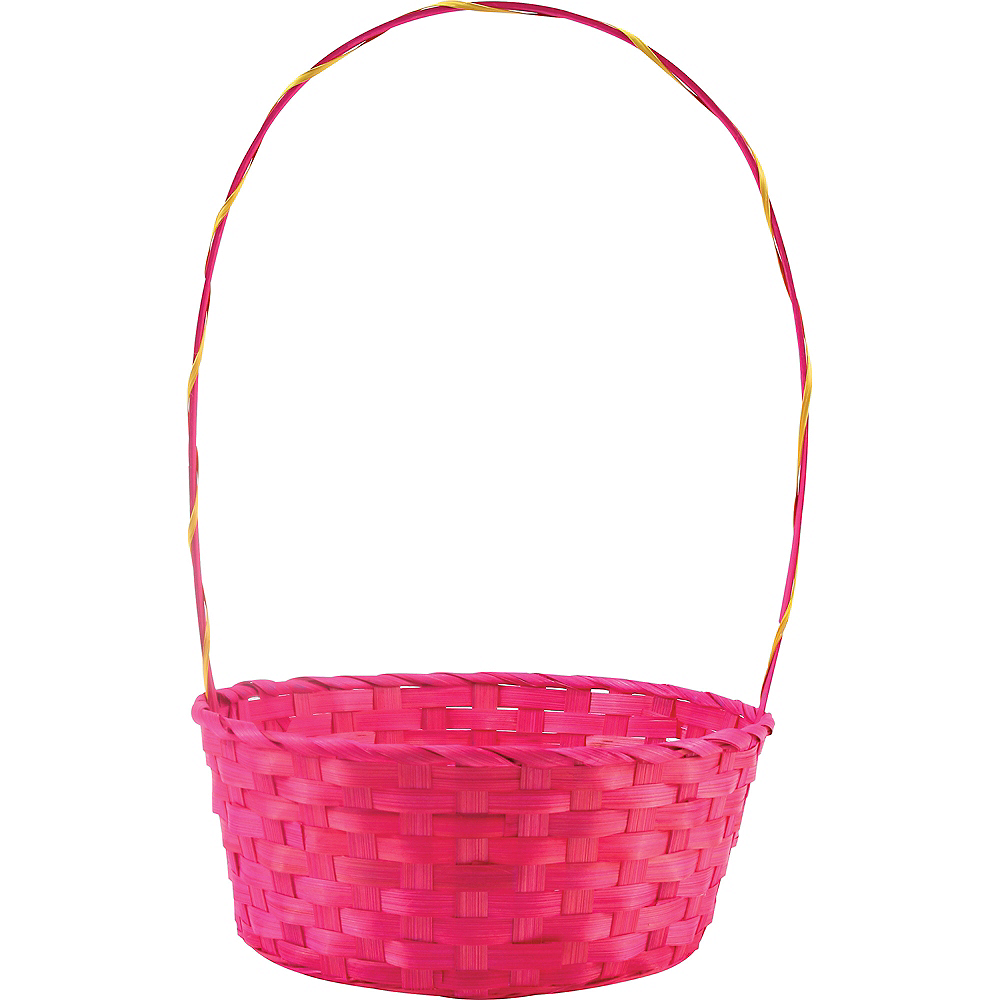 Large Pink Easter Basket Image #1