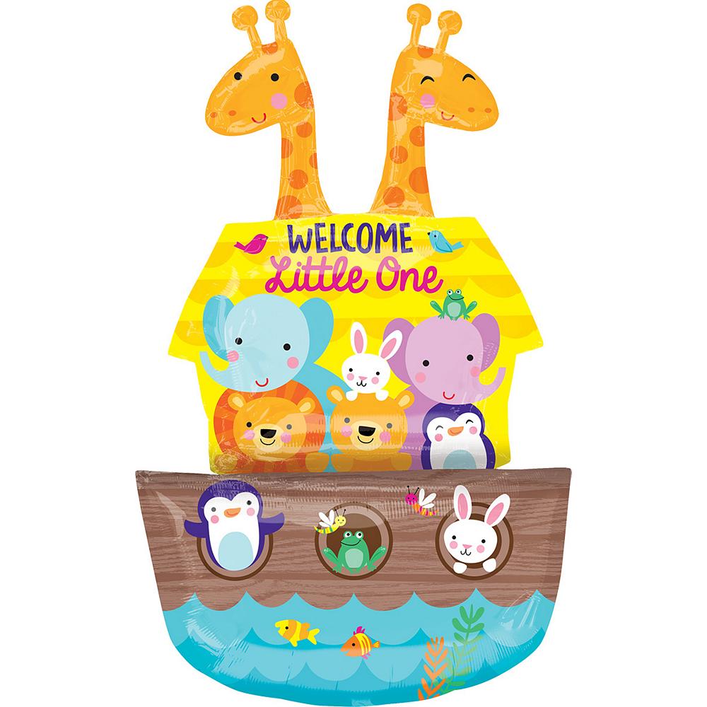Giant Noah's Ark Baby Shower Balloon 27in x 43in Image #1