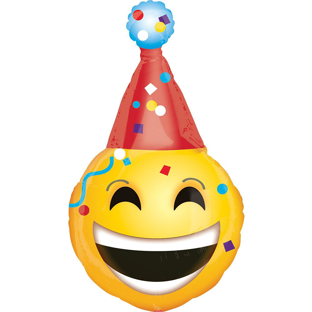Giant Party Hat Smiley Balloon Image #1