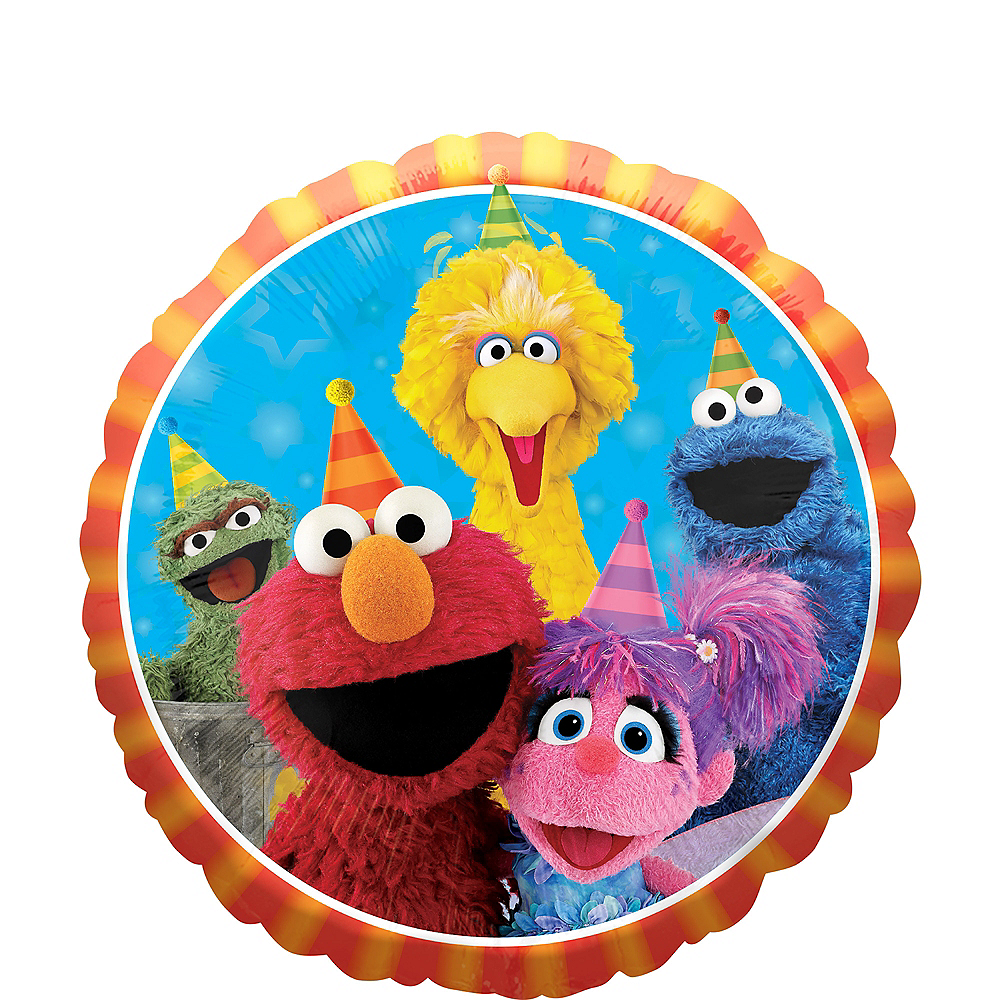 Sesame Street Birthday Balloon Image #1