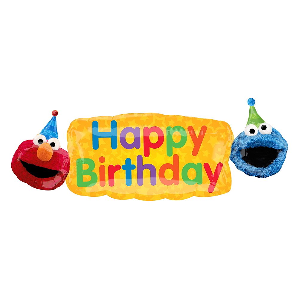 Giant Sesame Street Birthday Banner Balloon 42in x 14in | Party City