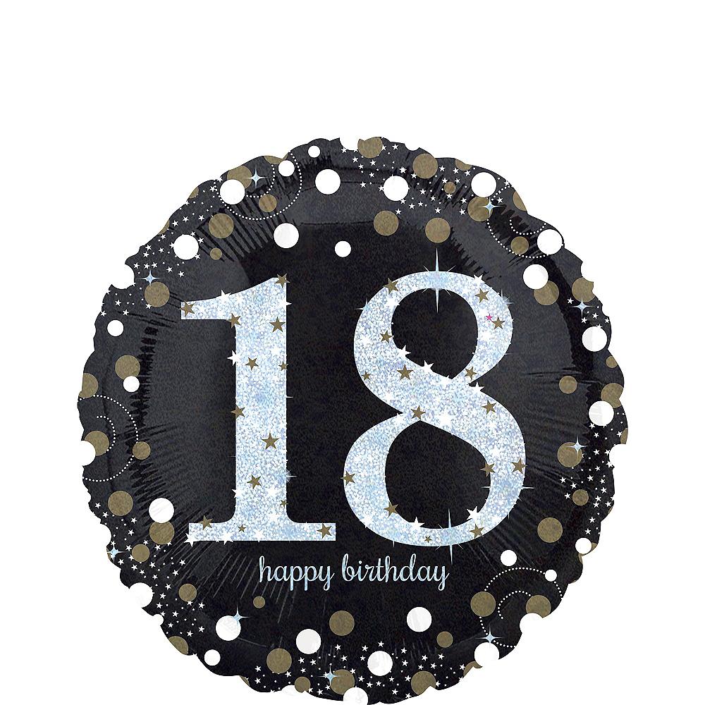 18th Birthday Balloon 18in - Sparkling Celebration Image #1