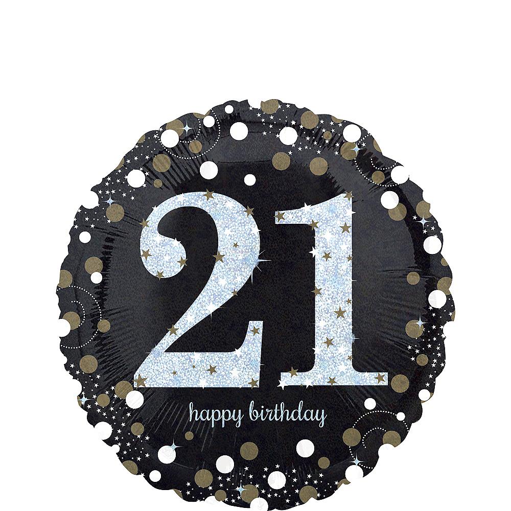 21st Birthday Balloon 18in Sparkling Celebration Party City