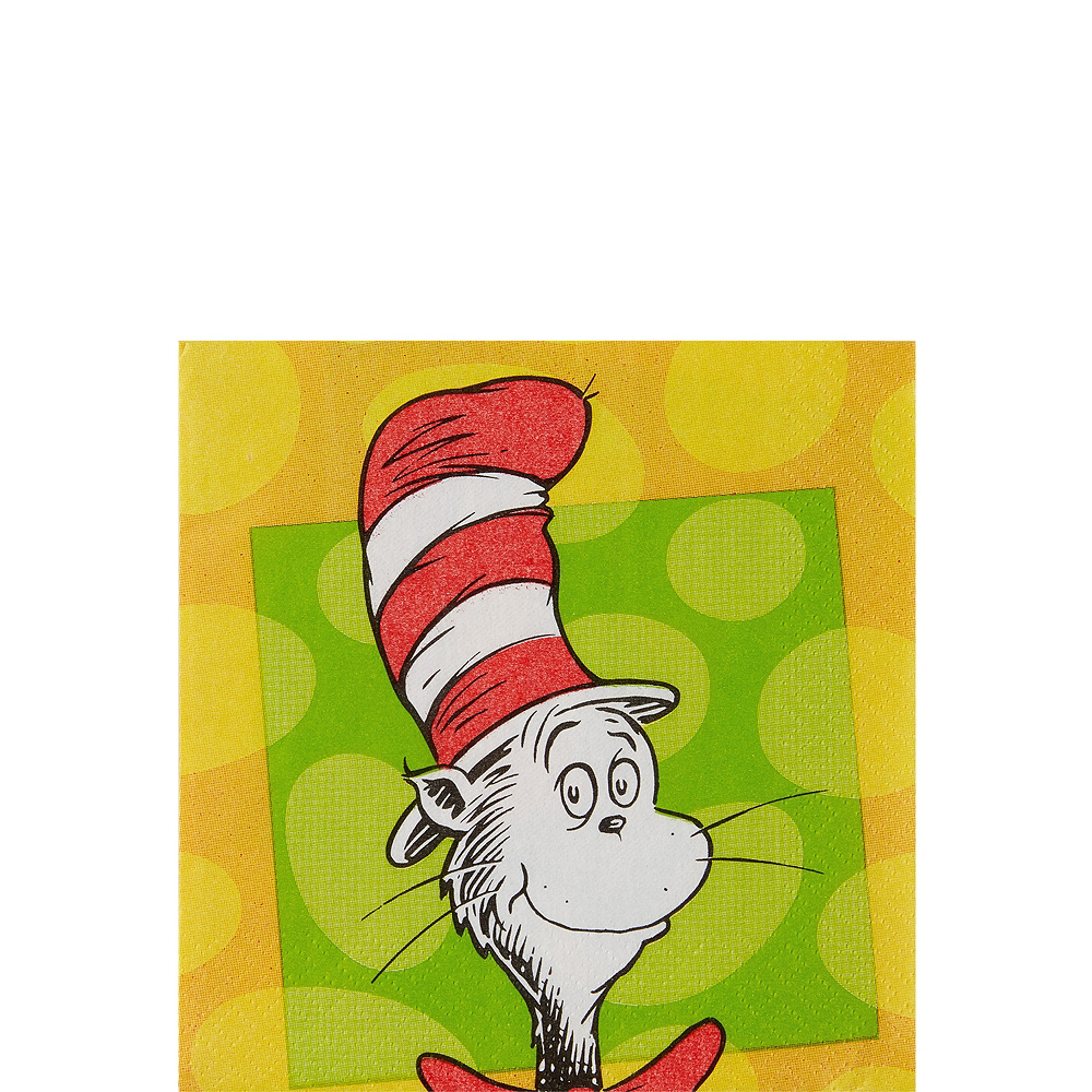 Dr. Seuss Beverage Napkins 16ct Image #1