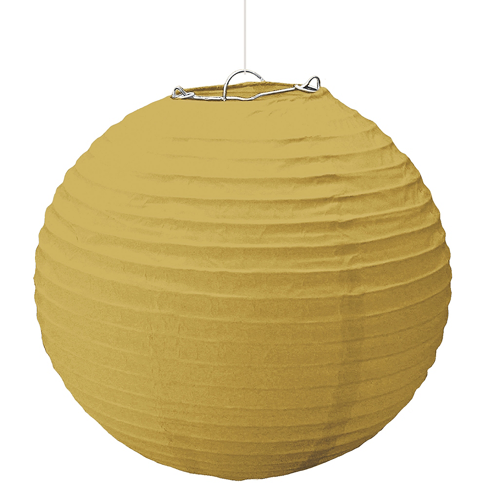 large gold paper lantern 16in party city canada
