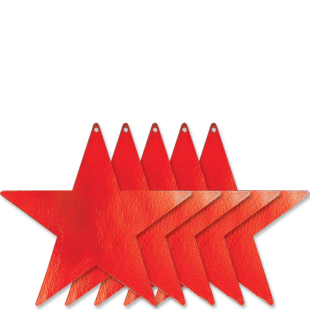 Red Star Cutouts 5ct Image #1