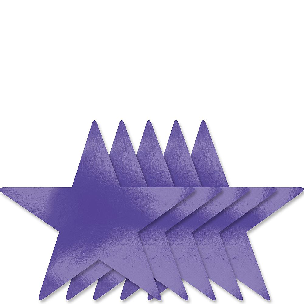 Purple Star Cutouts 5ct Image #1