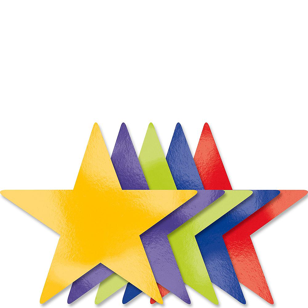 Rainbow Star Cutouts 5ct Image #1