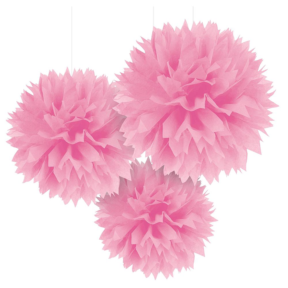 Pink Tissue Pom Poms 3ct Party City