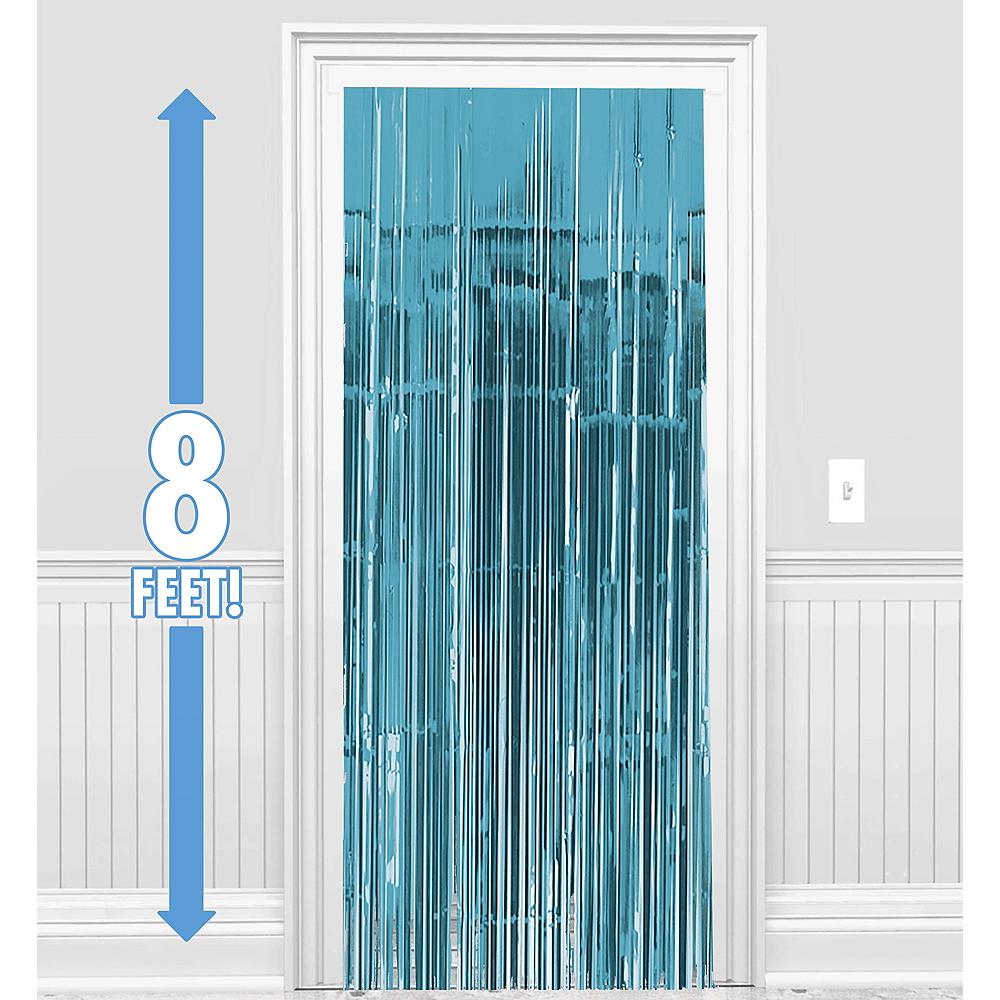 Caribbean Blue Fringe Doorway Curtain Image #1