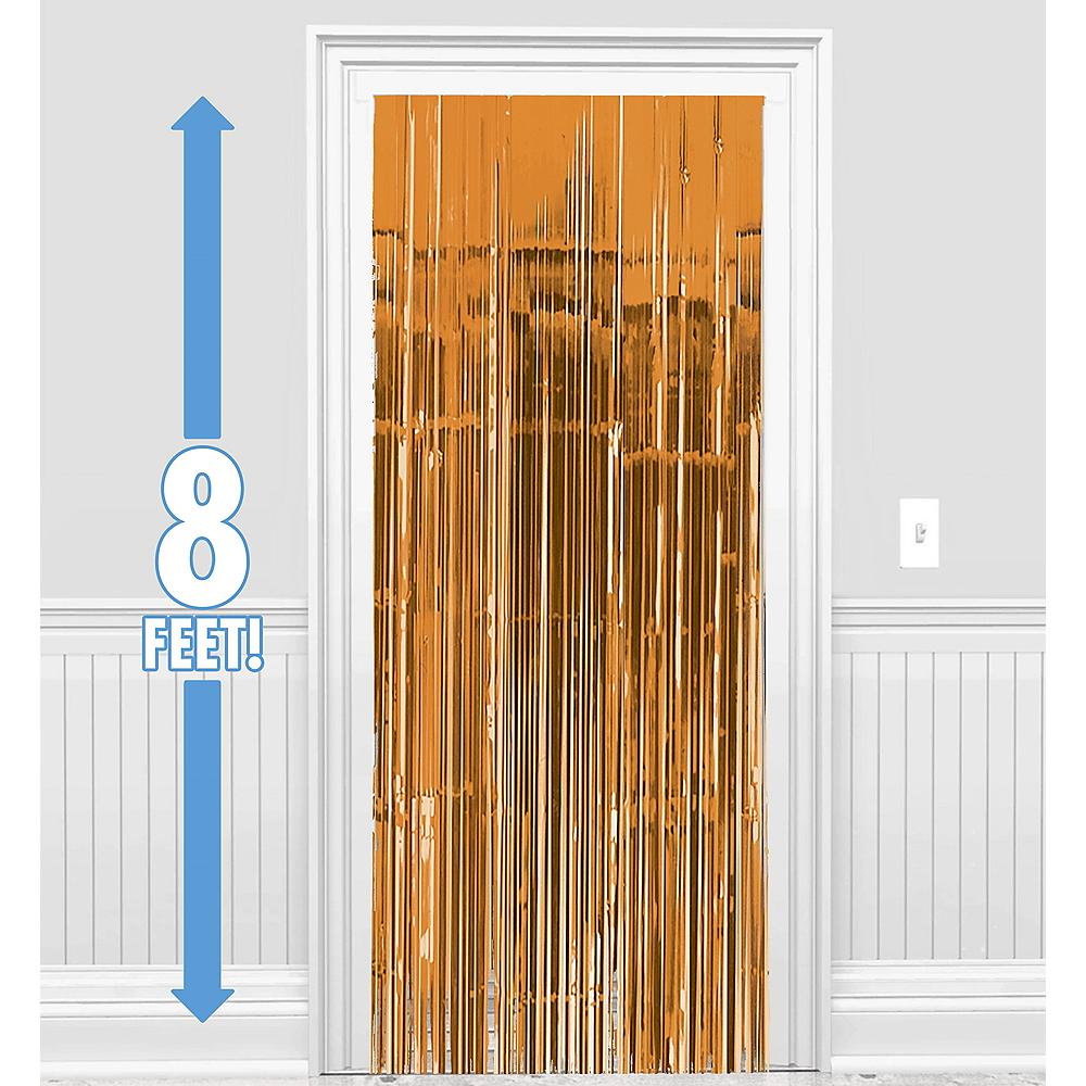 Orange Fringe Doorway Curtain Image #1