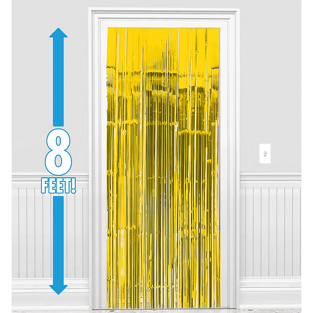 Sunshine Yellow Fringe Doorway Curtain Image #1