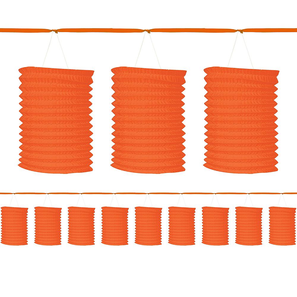 Orange Paper Lantern Garland Image #1